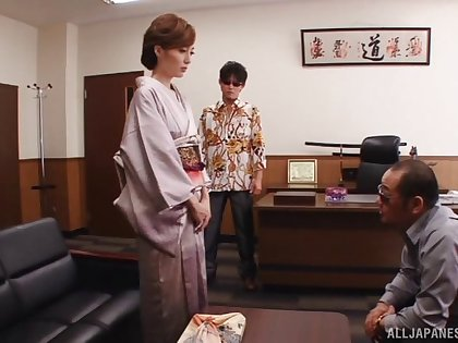 Husband is watching his wife Kaede Fuyutsuki fucking with another man