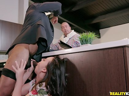 After they have a shower together Whitney Wright and her lover fuck badly