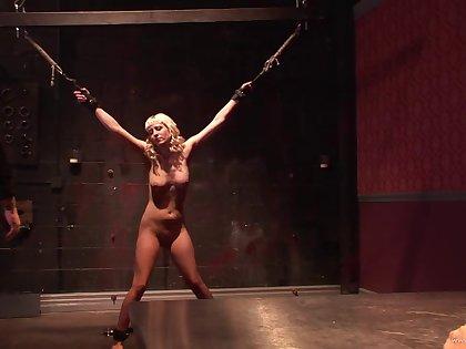 Sexy blonde sluttie in nasty bdsm bondage and fetish adventure