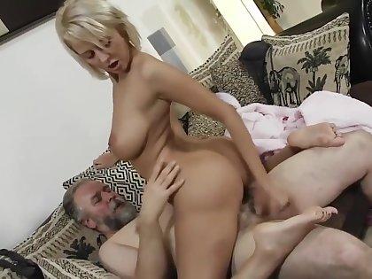 Teen fucked by hot old man sugar daddy