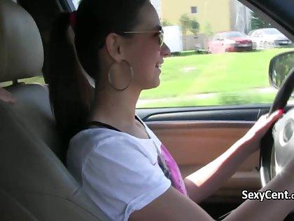 Teen lesbians filming sex outdoors