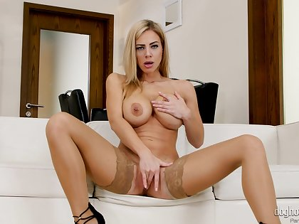 Erotic fantasy only sex with a busty mom in sexy stockings