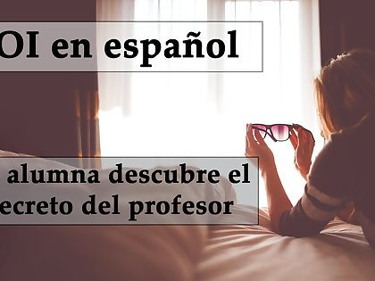 JOI espanol. Femdom anal, alumna y profesor encuentran dildo