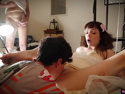 Barely legal boy is licking and fucking pussy for the first time