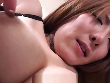 Cocksucking asian babe gets fingered