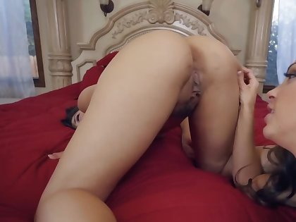 Four well done lesbians are licking each alternative in POV