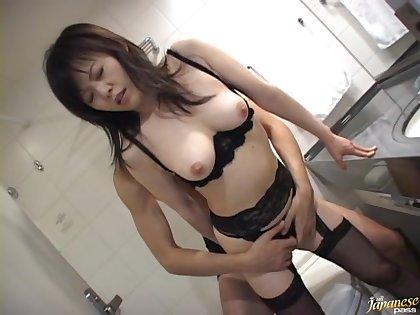 Nothing makes Hazuki Takashima as commandeer as getting her cunt banged
